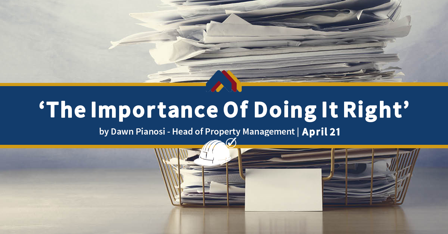 The Importance Of Doing It Right - Dawn Pianosi